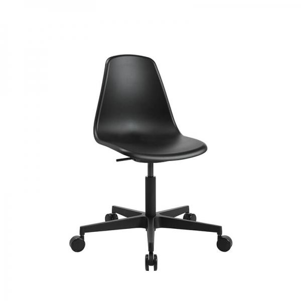 Chaise réglable avec roulettes noire pour bureau - Sitness life 10 - 1
