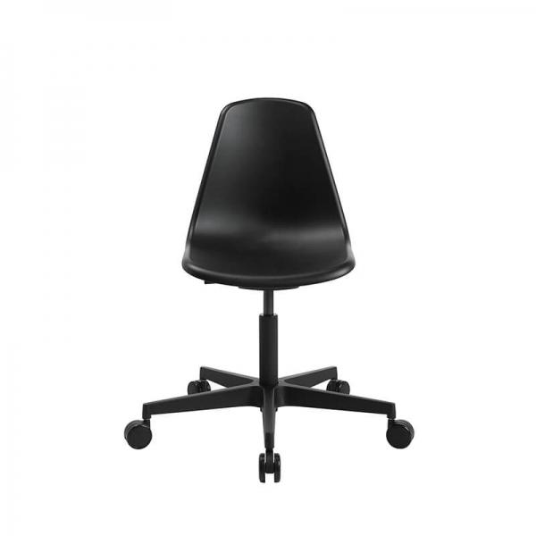 Chaise de bureau avec roulettes noire- Sitness life 10 - 2