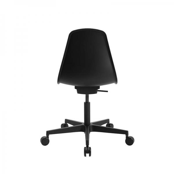Chaise design avec roulettes noire pour bureau - Sitness life 10 - 7