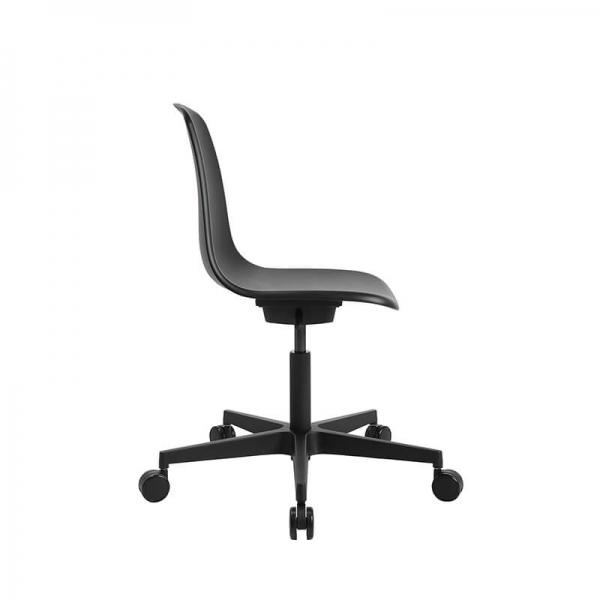 Chaise avec roulettes pour bureau coloris noir - Sitness life 10 - 5