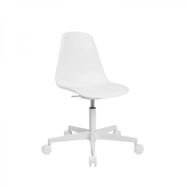 Chaise avec roulettes blanche pour bureau - Sitness life 10 - 13