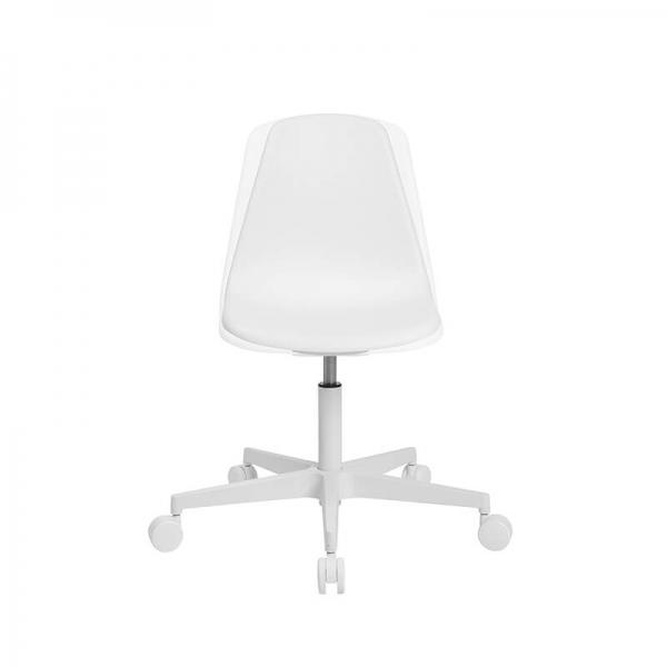 Chaise de bureautique avec roulettes blanche - Sitness life 10 - 15