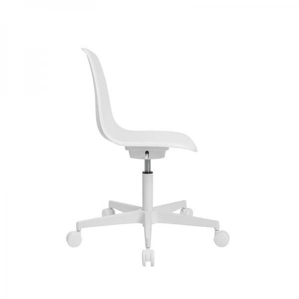 Chaise design avec roulettes blanche pour bureau - Sitness life 10 - 19