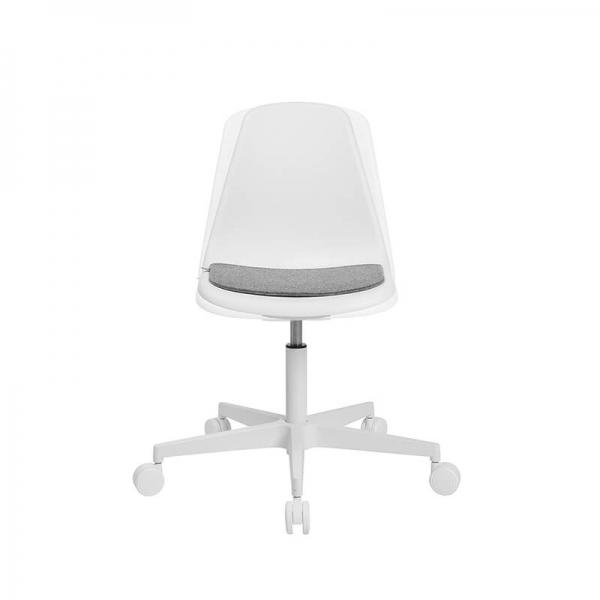 Chaise avec roulettes blanche pour bureau avec coussin - Sitness life 10 - 20