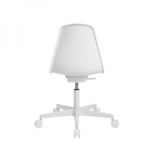 Chaise avec roulettes pour bureau coloris blanc - Sitness life 10 - 22