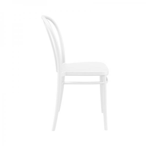 Chaise blanche en polypropylène empilable pour le jardin - Victor - 8