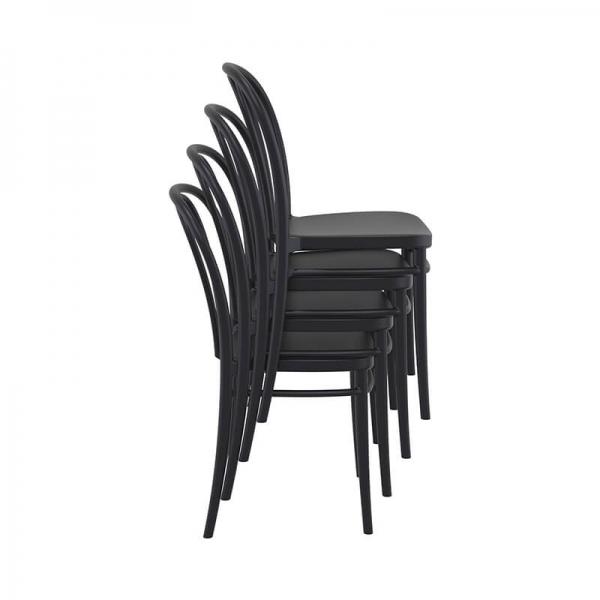 Chaise empilable de jardin bistrot noire - Victor - 24