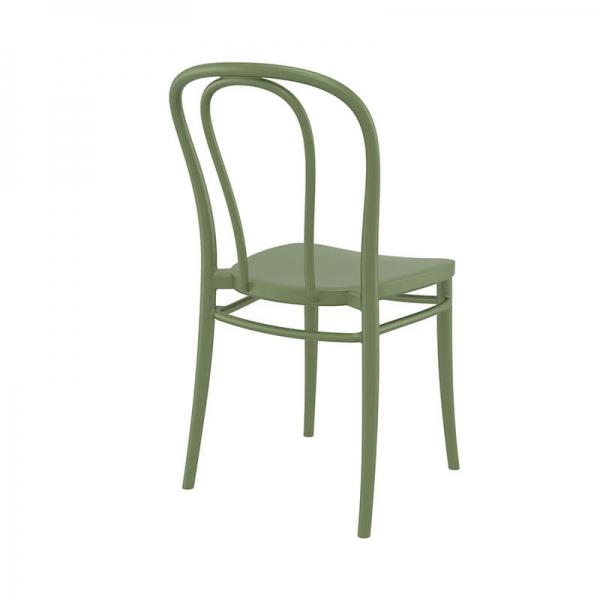 Chaise d'extérieur en polypropylène vert style bistrot - Victor  - 20