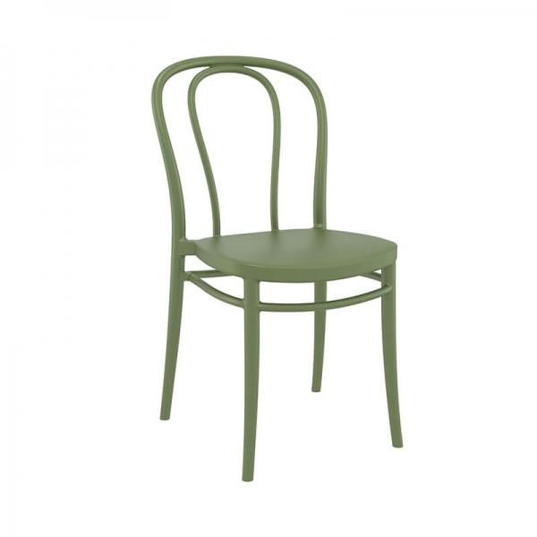 Chaise de jardin verte look bistrot empilable - Victor - 22