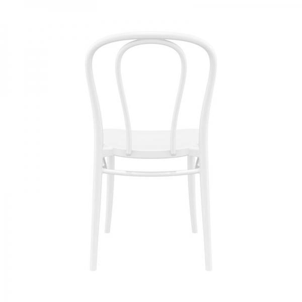 Chaise bistrot empilable en plastique blanc - Victor - 2