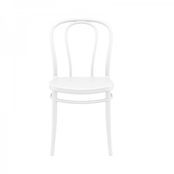 Chaise empilable de style bistrot blanche - Victor - 4