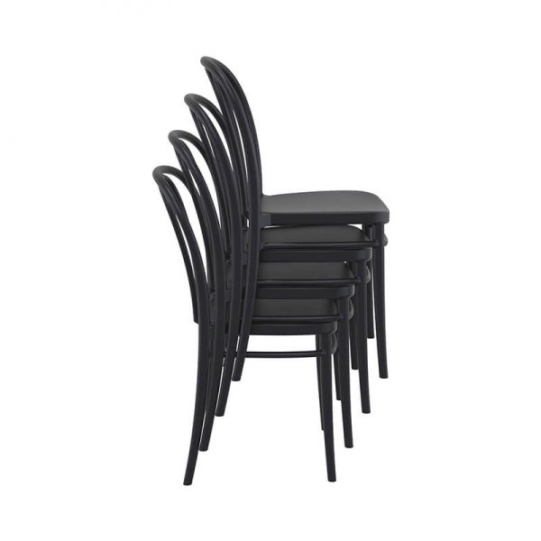 Chaise empilable noire style bistrot - Victor - 22