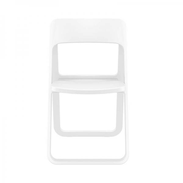 Chaise pliante moderne en plastique blanc - Dream - 8