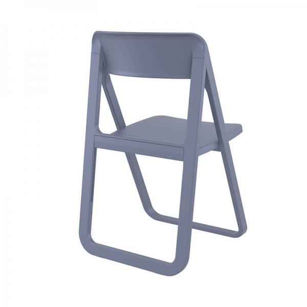 Chaise de salle à manger pliante en polypropylène gris - Dream - 12