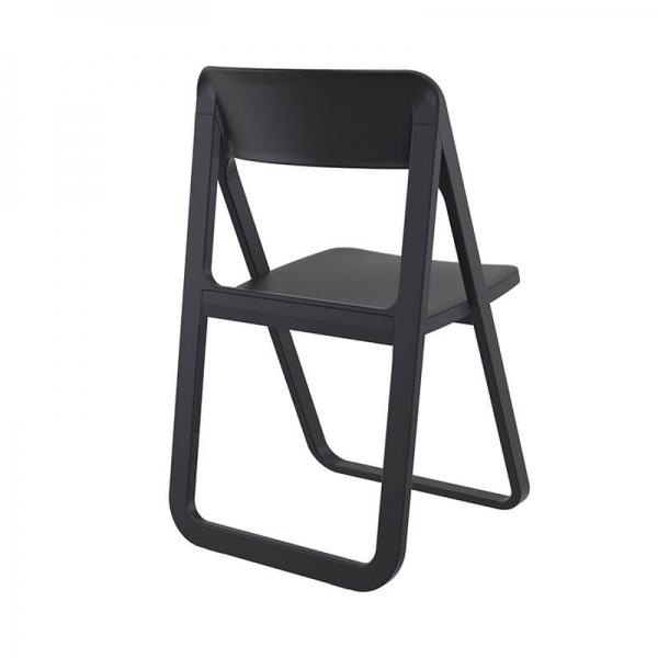 Chaise pliable en polypropylène noir - Dream - 3