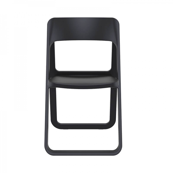 Chaise pliante en plastique noir style moderne - Dream - 4