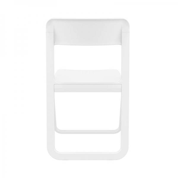 Chaise de terrasse blanche pliable en polypropylène - Dream - 4