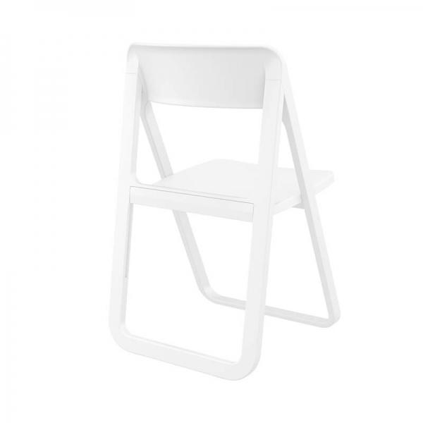 Chaise pliante de terrasse en plastique blanc style moderne - Dream - 5