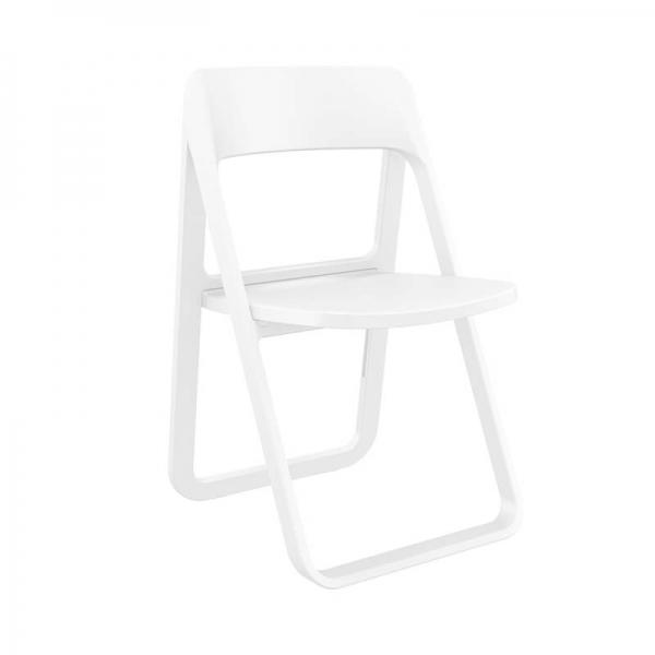 Chaise de jardin pliante en plastique blanc moderne - Dream - 3
