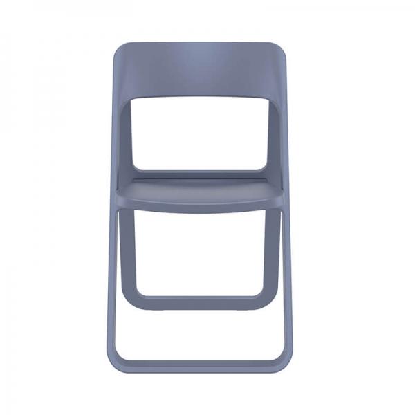 Chaise de jardin pliable en polypropylène gris - Dream - 11