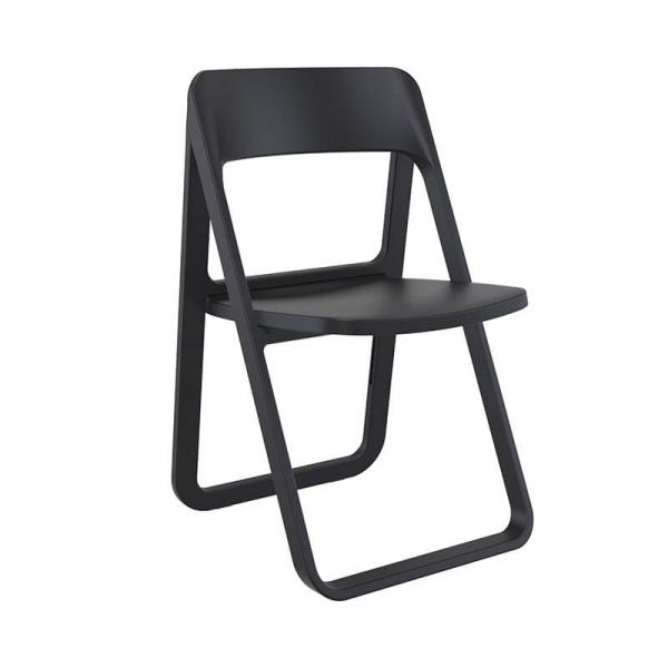 Chaise pliante en plastique noir - Dream - 13