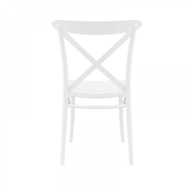 Chaise bistrot blanche en polypropylène empilable - Cross - 3