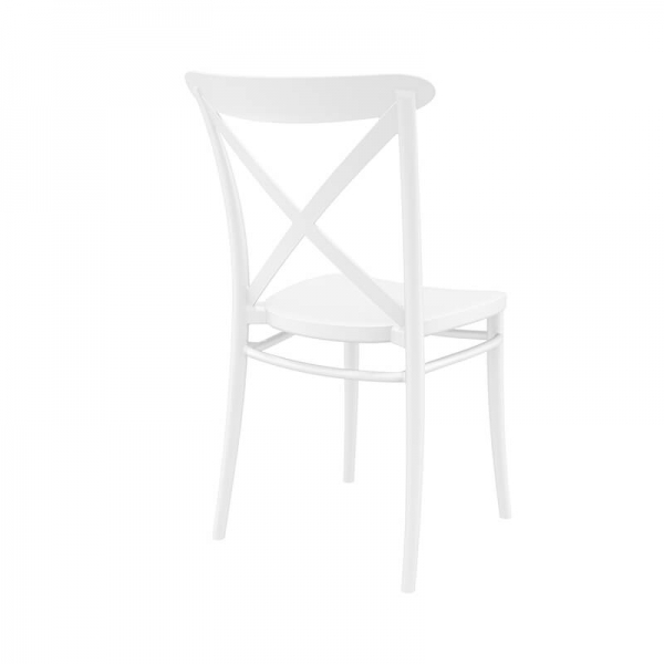 Chaise de bistrot blanche empilable - Cross - 4