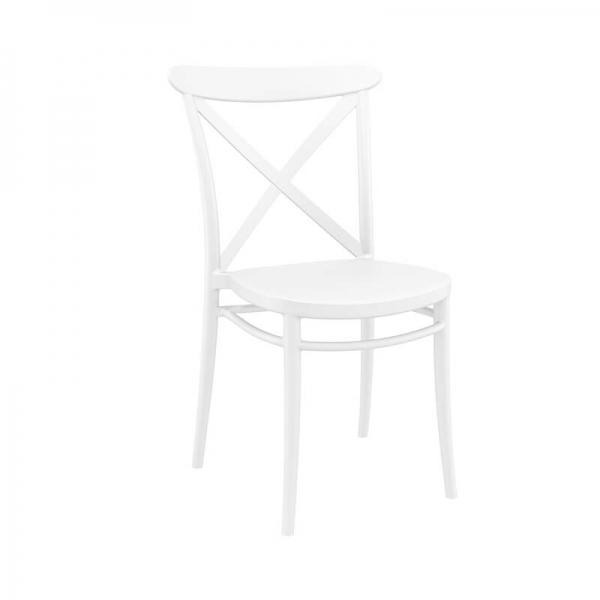 Chaise de cuisine en plastique blanc style bistrot - Cross - 2