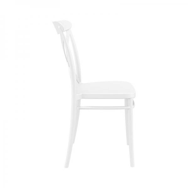 Chaise style bistrot en plastique blanc empilable - Cross - 6