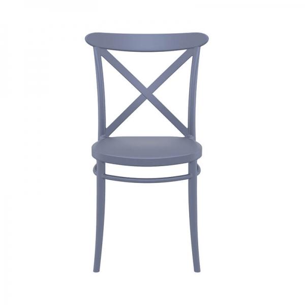 Chaise de cuisine grise type bistrot - Cross - 10