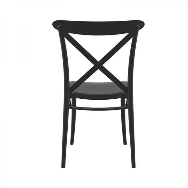 Chaise de cuisine style bistrot noire en polypropylène - Cross - 13
