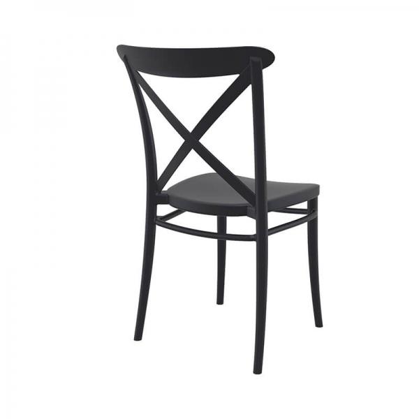 Chaise de bistrot noire en plastique - Cross - 14