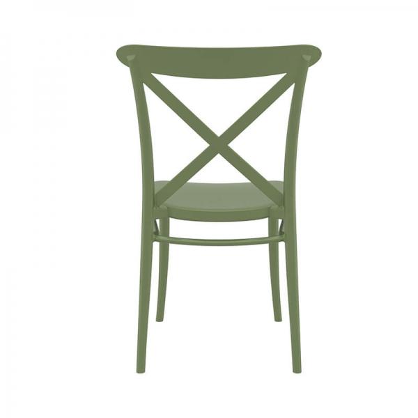 Chaise de cuisine verte style bistrot - Cross - 19