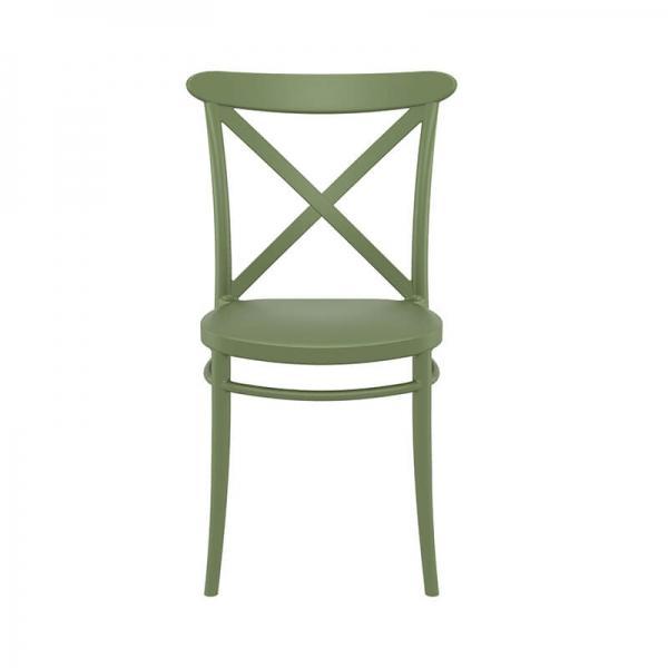 Chaise bistrot verte empilable pour la cuisine - Cross - 21
