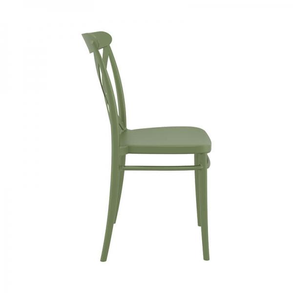 Chaise empilable en plastique vert - Cross - 22