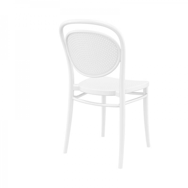 Chaise empilable en polypropylène blanche - 9
