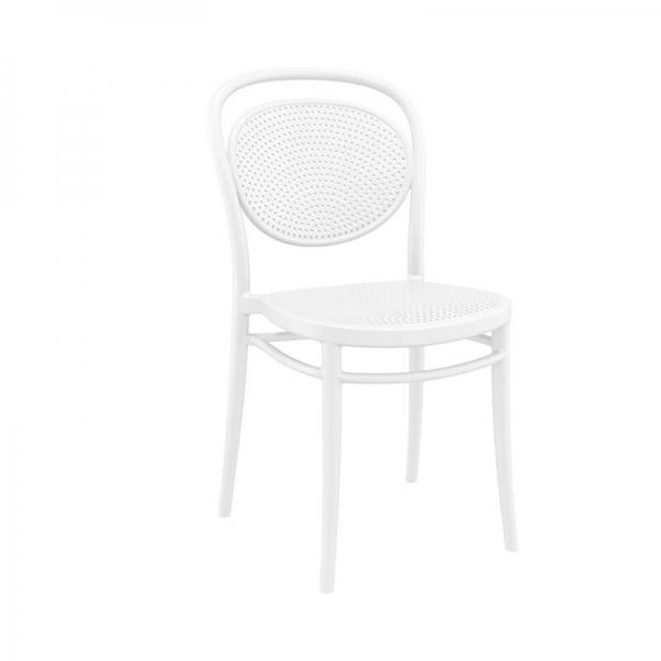 Chaise en plastique blanche  - 11