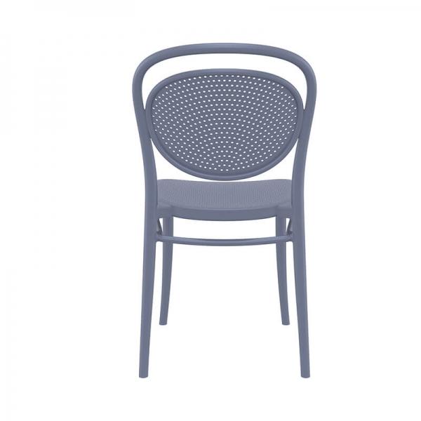 Chaise en polypropylène moderne grise - 13