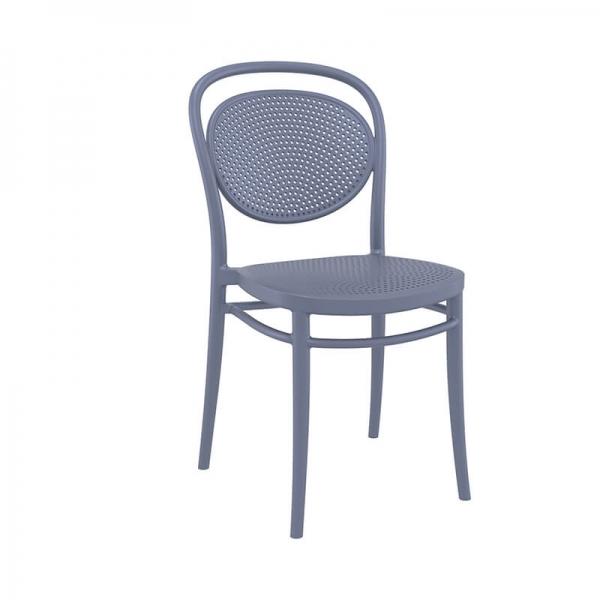 Chaise moderne grise en polypropylène  - 16