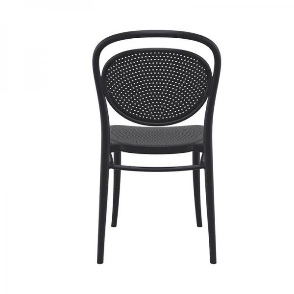 Chaise empilable en plastique noire  - 5