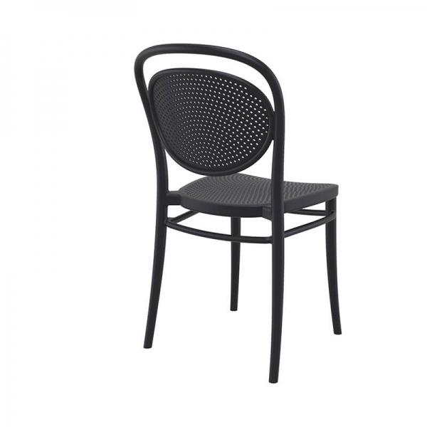 Chaise en plastique noire  - 4