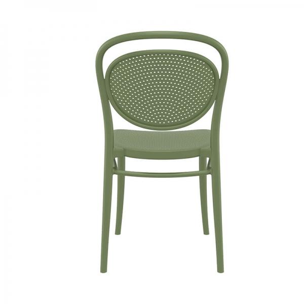 Chaise design en plastique verte  - 18