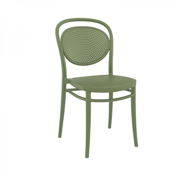 Chaise verte empilable en polypropylène - 21