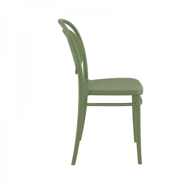 Chaise moderne verte en plastique  - 22