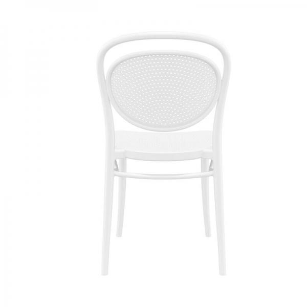 chaise d'extérieur en polypropylène blanche  - 13