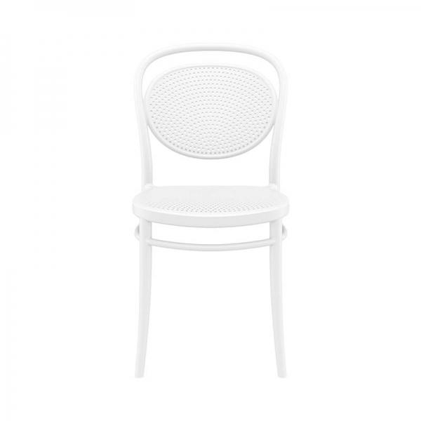 chaise de jardin moderne blanche  - 14
