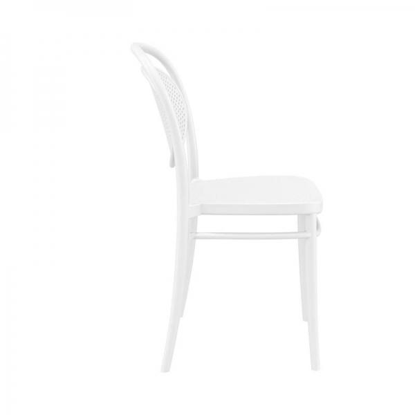 chaise moderne blanche pour jardin  - 15