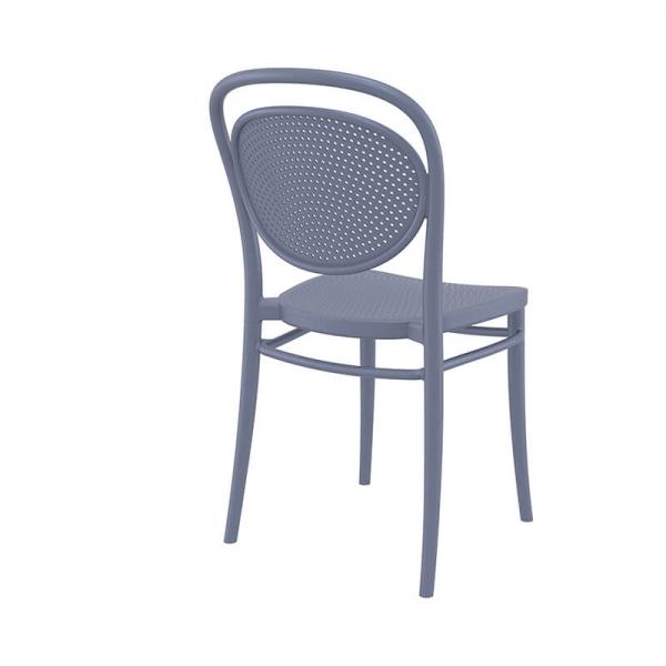chaise d'extérieur moderne et empilable en plastique  - 17