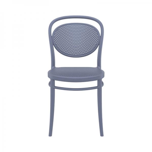 chaise empilable en polypropylène gris foncé  - 19