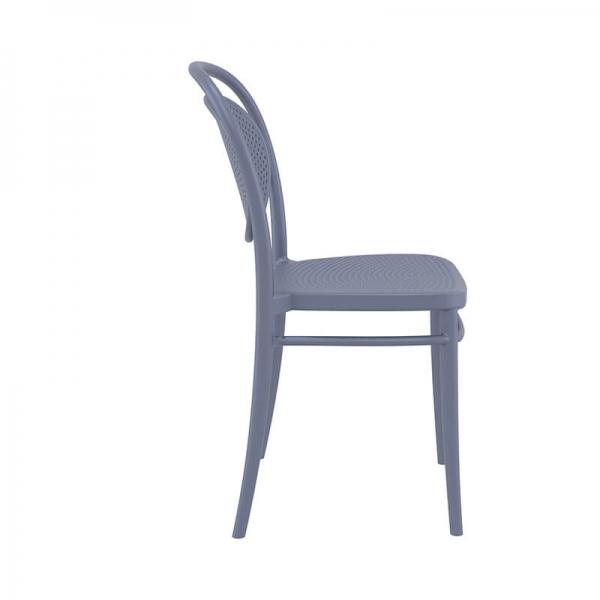 chaise moderne de jardin grise - 20